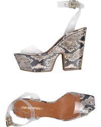 Emporio Armani Sandals - Lyst