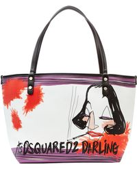 DSquared² Small Printed Shopper - Lyst