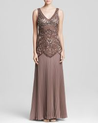 Sue Wong - Gown - Embellished Bodice Pleat - Lyst