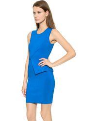 Alexander Wang Asymmetric Wrap Peplum Dress - Plasma - Lyst