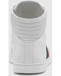 Gucci Coda Hi-top Sneaker With Interlocking G And Signature Web - Black