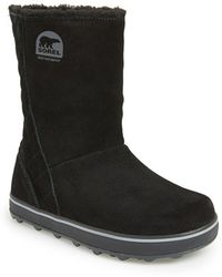 Sorel 'Glacy' Waterproof Boot black - Lyst