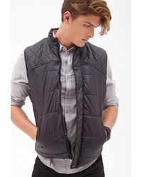 21men Quilted Puffer Vest - Lyst