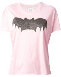 Zoe Karssen Bat Print T-Shirt - Lyst