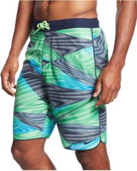 "Nike Vapor Glow 11"" Volley Swim Shorts - Lyst"