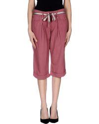 Alysi 3/4-Length Trousers - Lyst