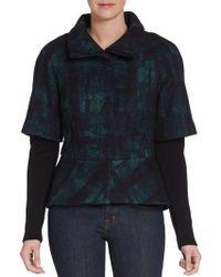 Elie Tahari Layered-look Peplum Jacket - Lyst