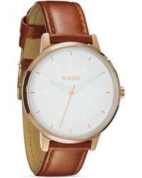 Nixon The Kensington Leather Strap Watch, 37Mm - Lyst