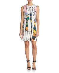3.1 Phillip Lim Sunset-Print Silk Crepe Dress - Lyst