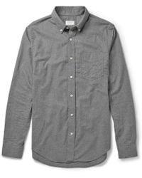 Club Monaco Slim-fit Cotton-flannel Shirt - Lyst