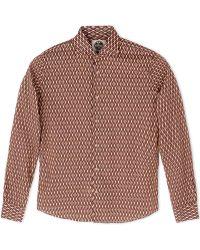 Mitchumm Industries Long Sleeve Shirt brown - Lyst