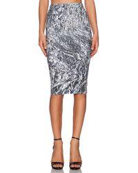 McQ by Alexander McQueen Silver Contour Skirt - Lyst