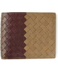 Bottega Veneta Intrecciato Bill Fold Wallet - Lyst