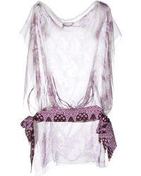 Gucci Purple Blouse - Lyst