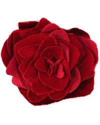 Lanvin Flower Brooch - Red