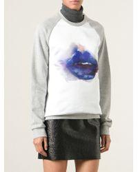 MSGM Lip Print Sweatshirt - Lyst