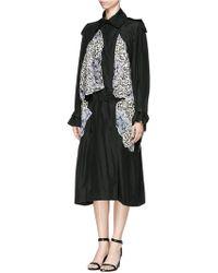 Stella McCartney 'Gabriella' Cloud Print Embroidery Appliqué Trench Coat - Lyst