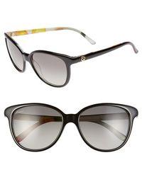 Gucci 55Mm Floral Print Sunglasses black - Lyst