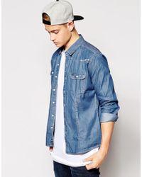 Firetrap Western Denim Shirt - Blue