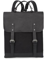 Enter # - Black Canvas And Leather Backpack - Lyst