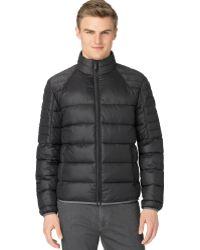 Calvin Klein Mix Media Puffer Jacket - Lyst
