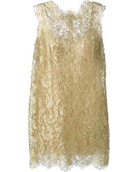 Dolce & Gabbana Floral Lace Mini Dress - Lyst