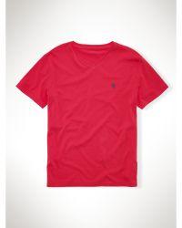 Polo Ralph Lauren Cotton Jersey V-neck T-shirt - Lyst