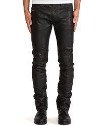 Diesel Thavardest Leather Pant - Lyst
