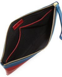 Hare + Hart Papa Leather Pouch Bag - Red