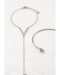 Forever 21 - Triangle Hand Chain Set - Lyst