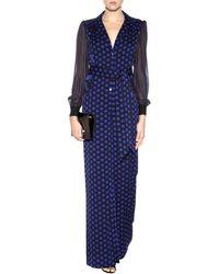 Diane von Furstenberg Cathy Printed Silk Jumpsuit - Black