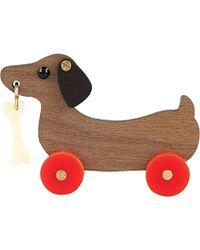 Tatty Devine - Dog On Wheels Brooch - For Women - Lyst