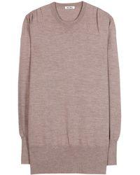 Acne Studios Lotus Merino Wool Sweater - Lyst