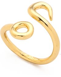 Giles & Brother Hook Bypass Ring  Gold - Lyst