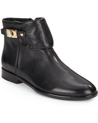 Vince Camuto Signature Kalypso Leather Ankle Boots - Lyst