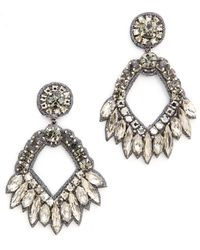 Deepa Gurnani Crystal Open Earrings Clear - Lyst