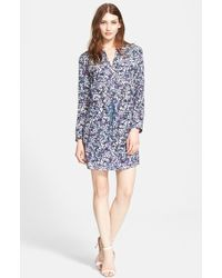 Rebecca Taylor Print Silk Shirtdress - Lyst
