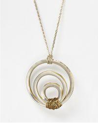 """Robert Lee Morris Pendant Necklace, 32"""" - Metallic"""