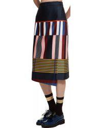 Suno Midi Asymmetrical Wrap Skirt - Lyst
