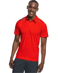Adidas Red Climachill Polo - Lyst