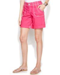 Inc International Concepts Twill Cuffed Utility Shorts - Lyst