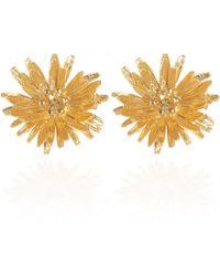 Alex Monroe Goldplated Dandelion Stud Earrings - Metallic