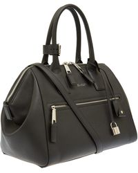 Marc Jacobs Medium Black Incognito Textured Leather Bag - Lyst