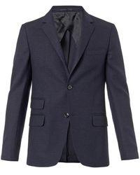 Gucci Texturedwool Twobutton Blazer - Lyst