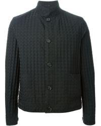 Giorgio Armani Check Jacquard Jacket black - Lyst