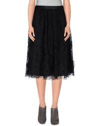 Leur Logette 3/4 Length Skirt - Black