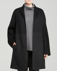 Eileen Fisher Plus Color Block Wool Coat - Lyst