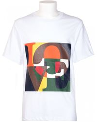 "MSGM White Cotton T-Shirt With ""Love"" Multicolor Print white - Lyst"