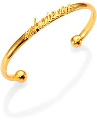 Kate Spade Say Yes Whatever Cuff Bracelet - Lyst