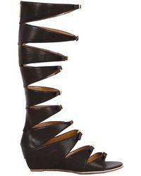 Report Signature Geri Gladiator Wedge Sandals black - Lyst